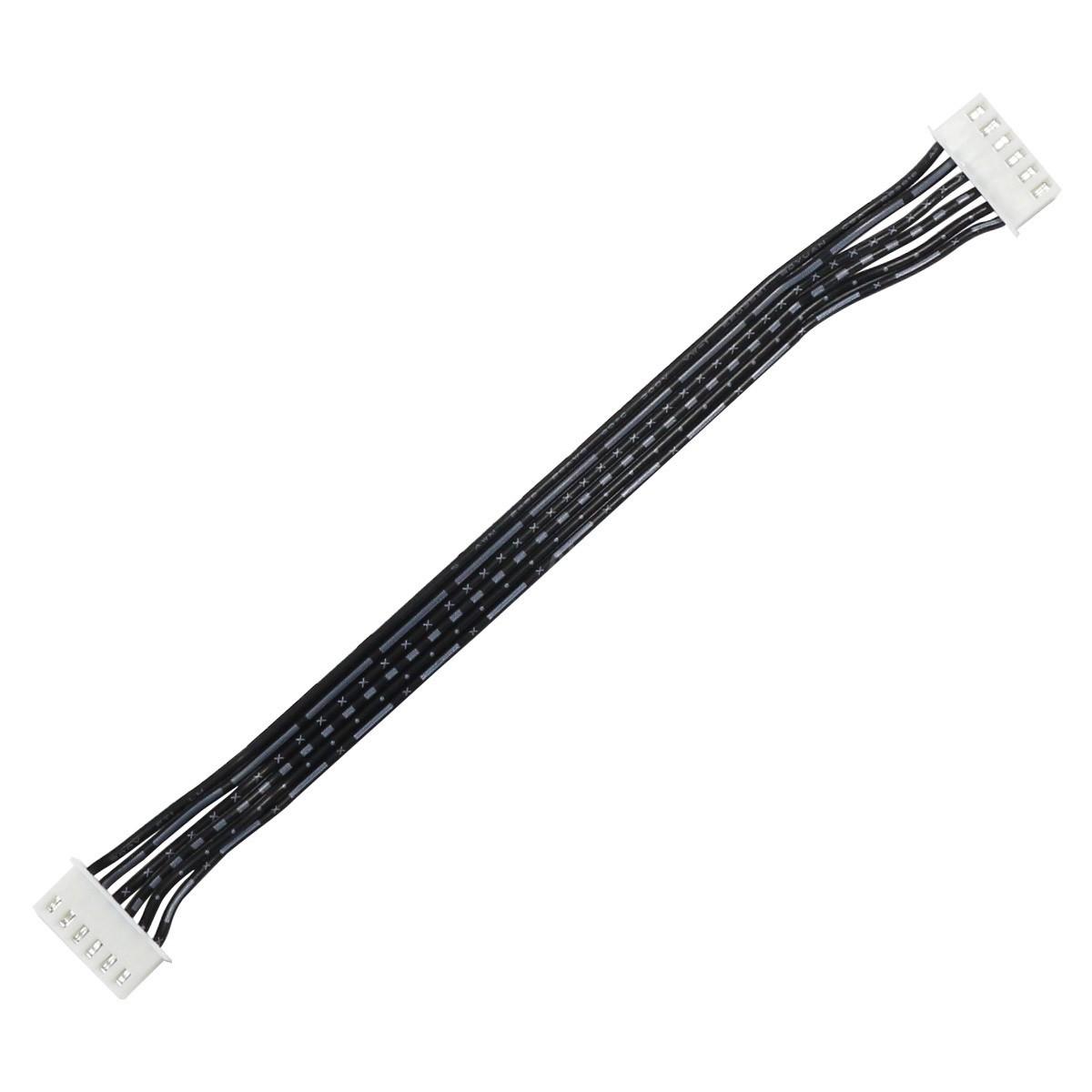 Câble XH Femelle / Femelle avec 2 Connecteurs 6 Pôles 15cm (unité)