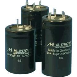 Condensateur Mundorf M-Lytic HV 500V 32+32µF