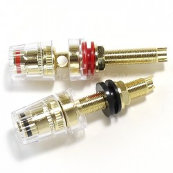 Borniers isolés Acrylique Ø20mm x 65mm (La paire)