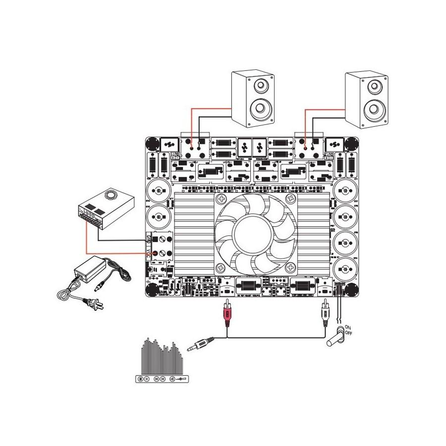 Wondom Aa Ab32274 Stereo 2x1200w Class D Audio Amplifier Board 5w Sure
