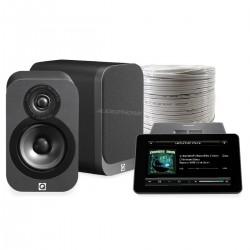 Pack AUDIOPHONICS RaspTouch Amp 9023 + Q Acoustics 3010 + Câble HP OFC 2x2m