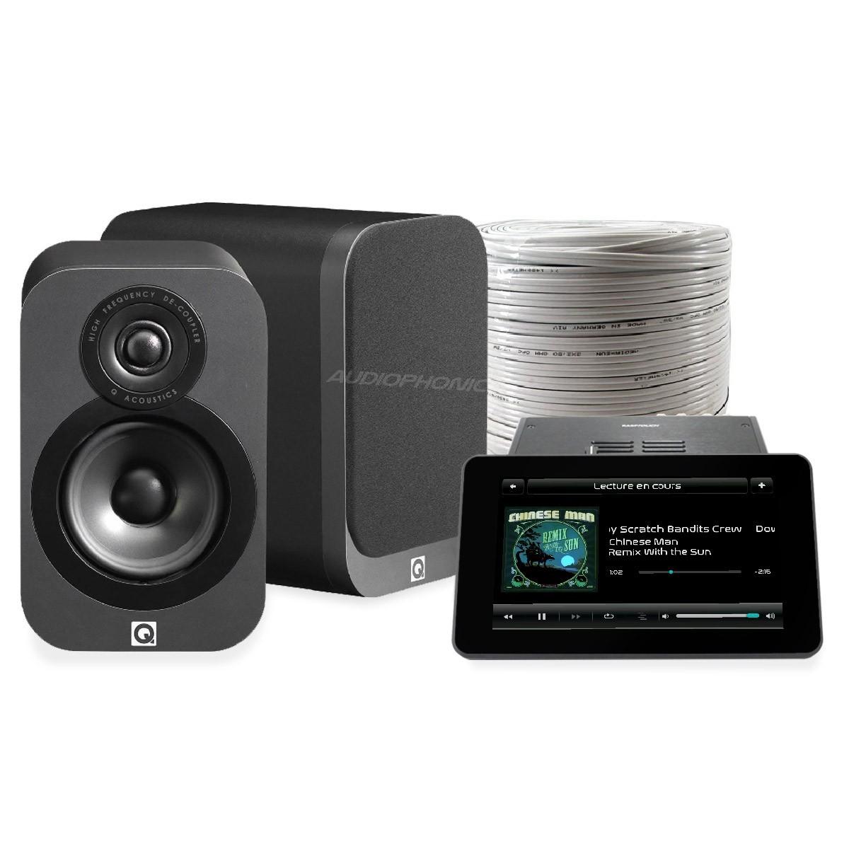 Pack AUDIOPHONICS RASPTOUCH AMP 9023 + Q ACOUSTICS 3010i + OFC Speaker Cable 2x2m