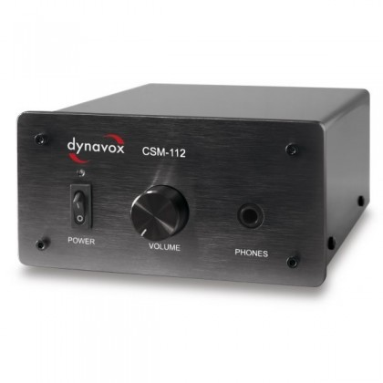 DYNAVOX CSM-112 Headphone amplifier / Preamplifier Black