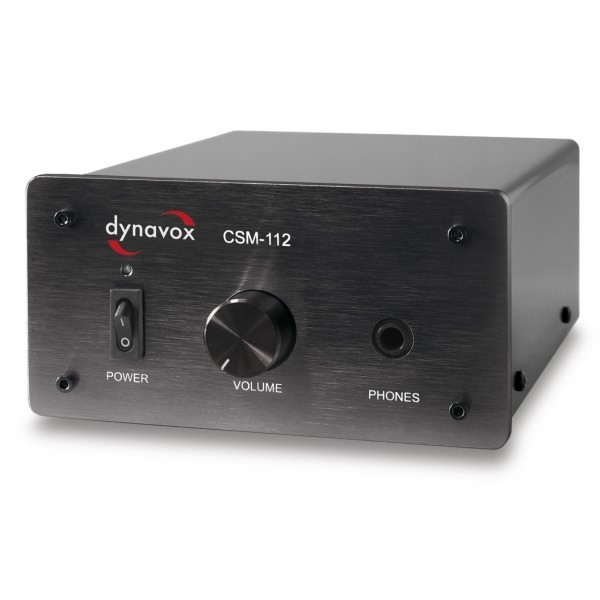 DYNAVOX CSM-112 Headphone / Preamplifier Amplifier Black