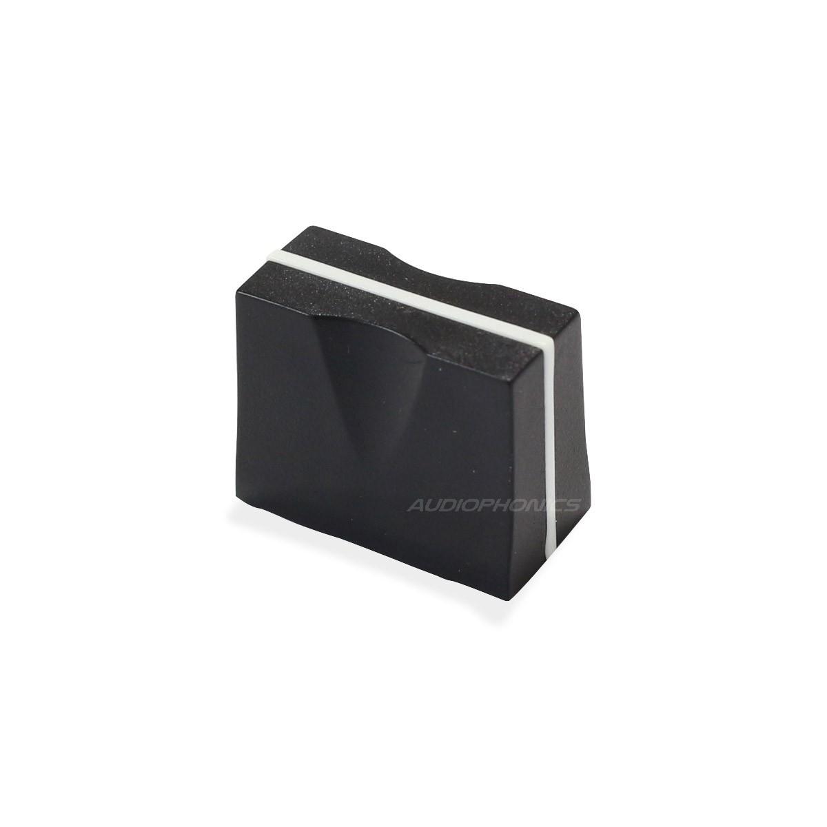 Bouton pour Fader 19x10x15mm 7mm Noir