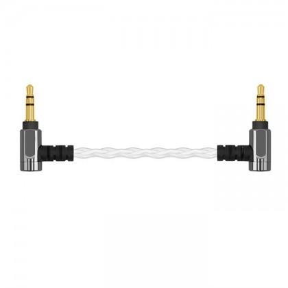 SHANLING L1 Câble Jack 3.5mm vers Jack 3.5mm Cuivre Plaqué Argent 10cm