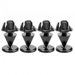 MONACOR SPS-10 Jeu de Pointes + Contrepointes Noir (Set x4)
