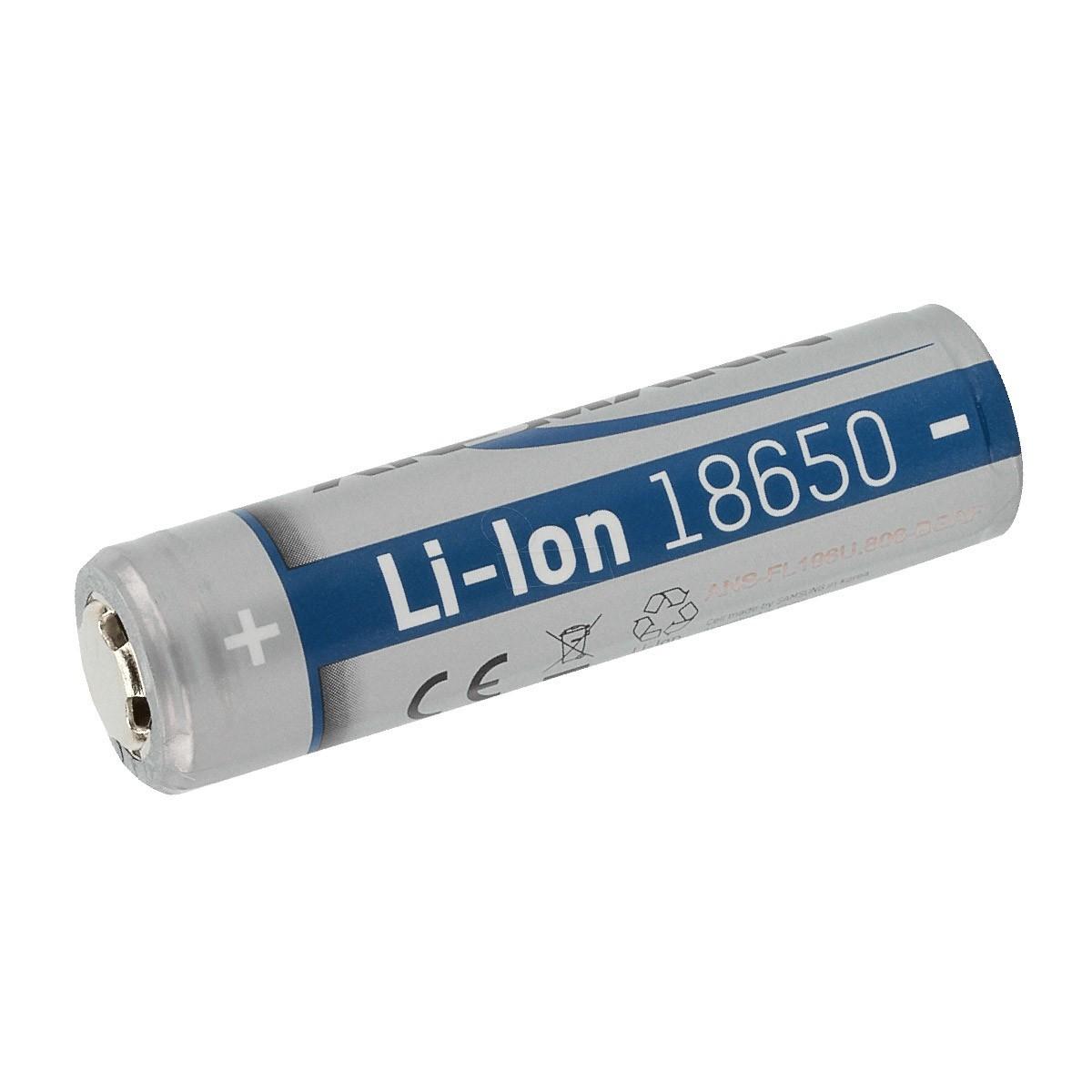 ANSMANN ANS 18650 PCB Batterie Lithium-Ion 18650 3.6V 2600mAh Rechargeable