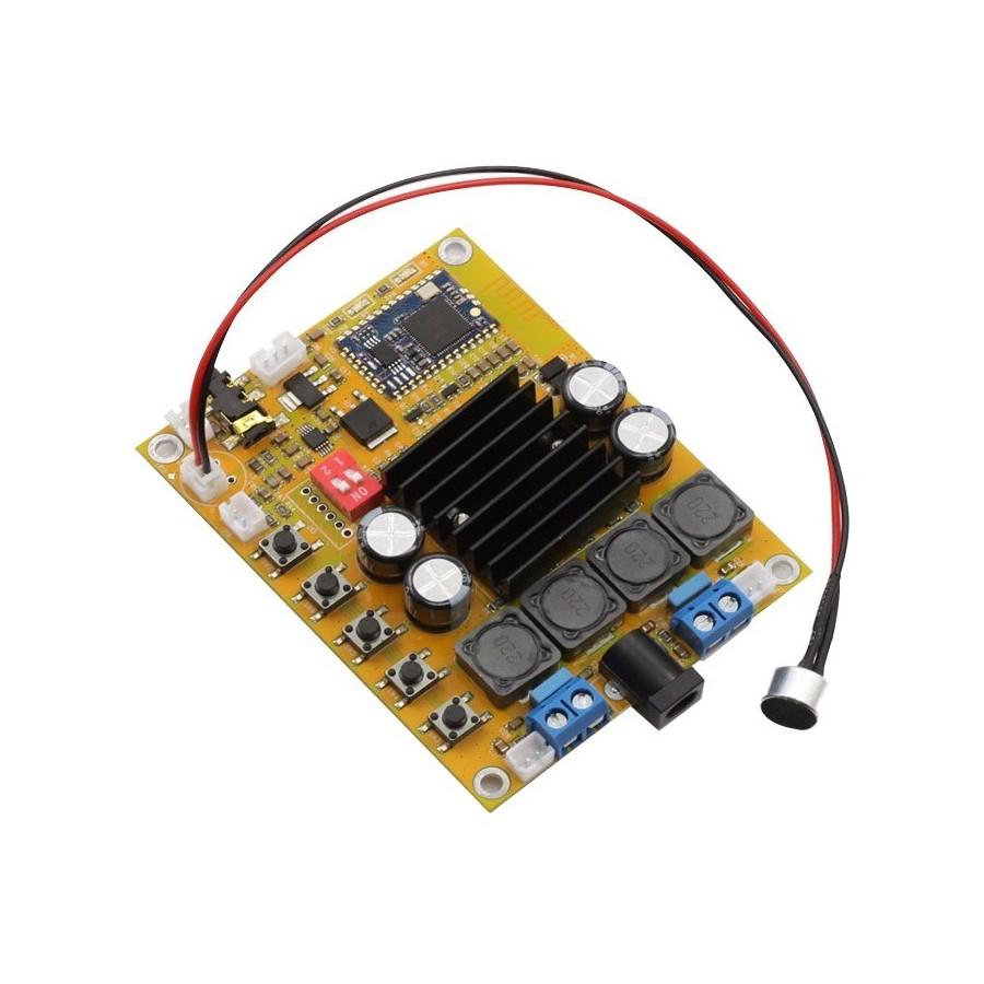 Fx Audio Blamp 50w Tda7492 Class D Amplifier Module Bluetooth 2x50w Digital Power Circuit Board Blue Silver