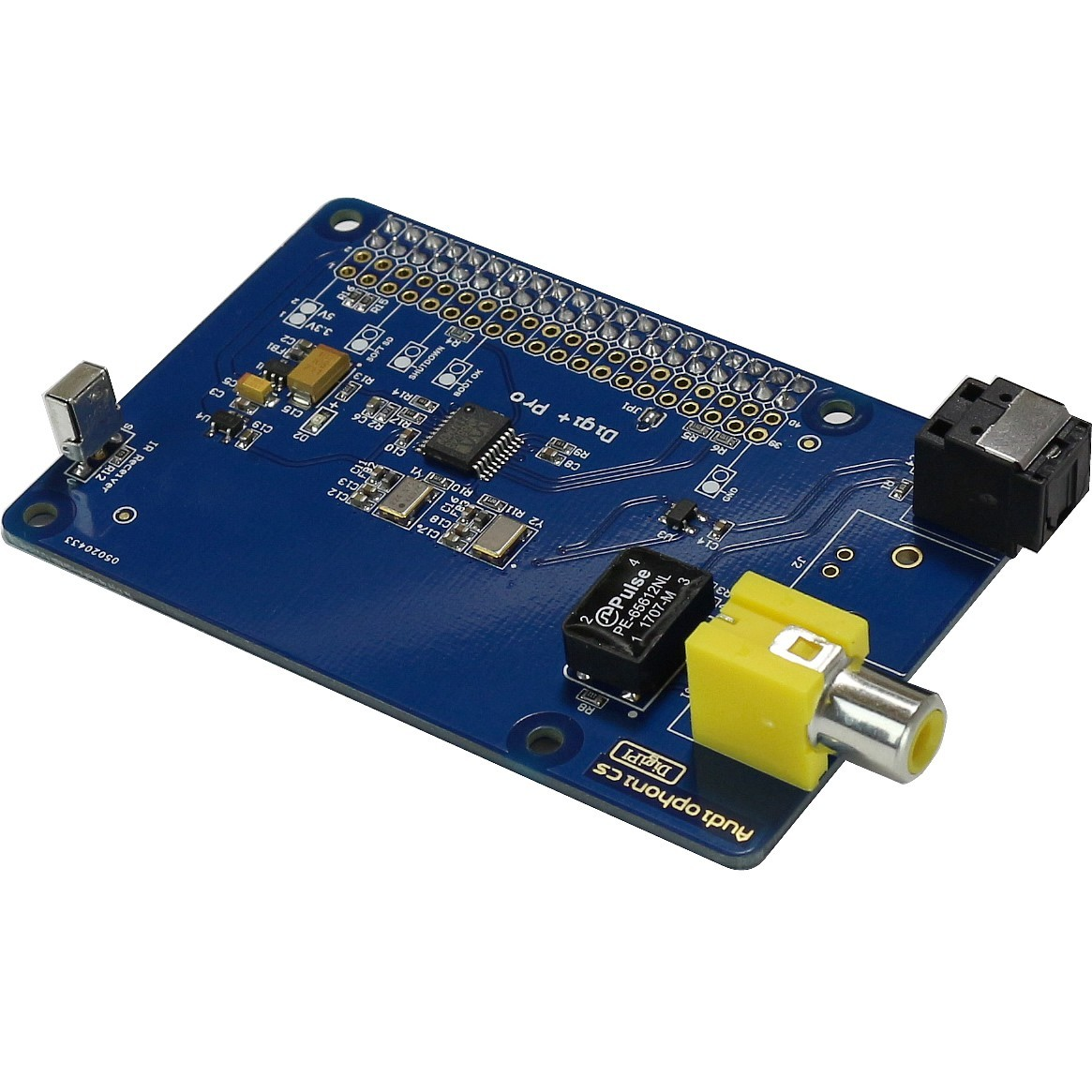 AUDIOPHONICS Digipi+ PRO Raspberry PI 2 PI 3 Interface Digitale WM8804