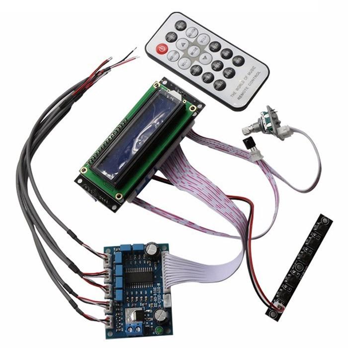 FX-AUDIO PT2313 Module Contrôle de Volume / Tonalité et Sélecteur de Source avec Télécommande