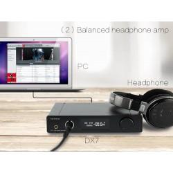 TOPPING DX7 2X-ES9028Q2M DAC / Préampli / Ampli casque DSD 32bit / 384kHz TCXO
