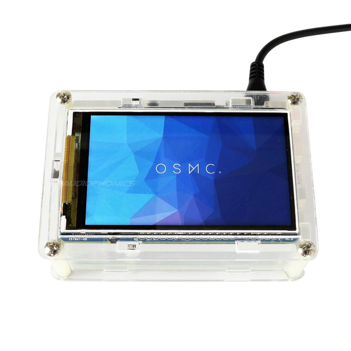 """Écran pour Raspberry Pi Hi-Res 800x480px 3.5"""" avec Boîtier Acrylique Transparent"""