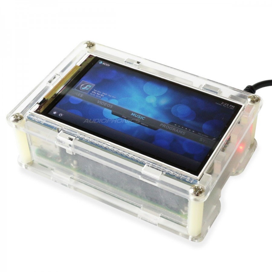 Raspberry Pi 3 Hi Res Screen 800x400px 35 With Transparent Acrylic Model B Case Transparant