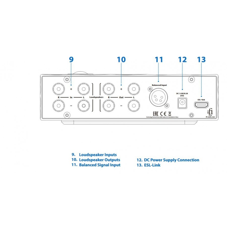 K1000 Xlr Wiring Diagram Schematic Balanced To Connections Ifi Audio Pro Iesl Vacuum Tube Amplifier For Electrostatic Headphone 900x900