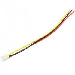 Câble CH 3.96mm Femelle vers Fil Nu 1 Connecteur 3 Pôles 20cm (Unité)