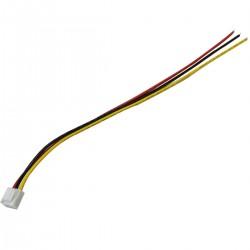 Cordon VH3.96 avec connecteur Femelle 3 pôles 30cm 22AWG (Unité)