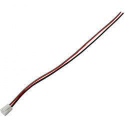 VH 3.96mm Cable Female to Bare wire 2 Poles 1 Connector 30cm Red (Unit)