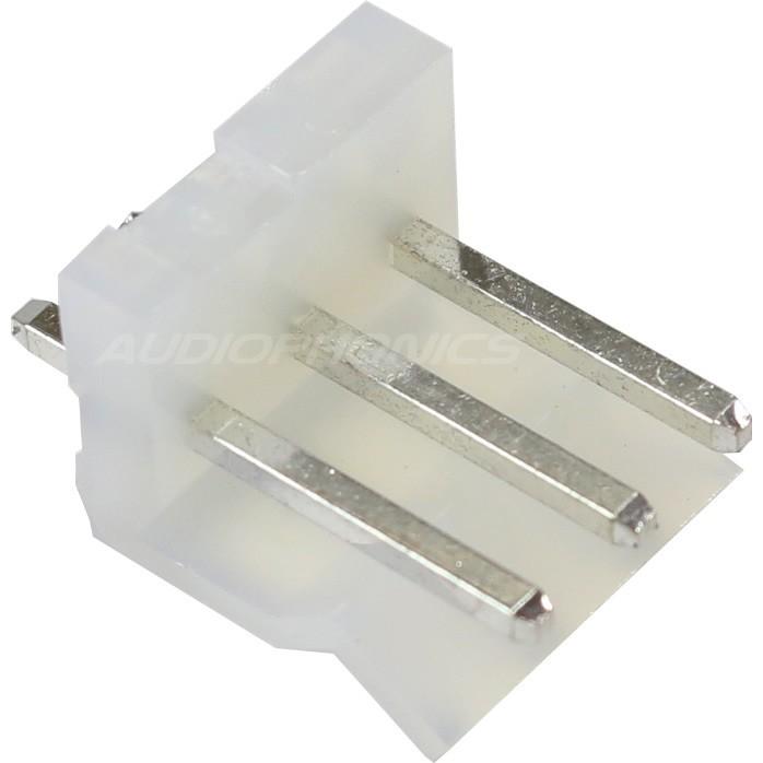 Connecteur Embase CH 3.96mm Mâle 3 Voies Blanc (Unité)