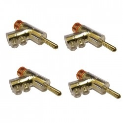 YARBO SCGP-1 GY-PLUG Banana Plug Gold Plated Ø7mm (Set x4)