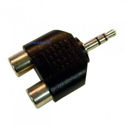 Adaptateur Jack 3.5mm stéréo mâle vers RCA femelle