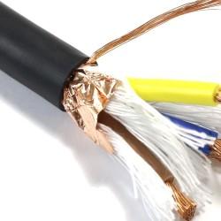 ELECAUDIO CS-331TPE Câble Secteur Double Blindage Cuivre OFC 3x3.5mm² Ø 12mm