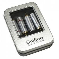 1877PHONO ZRP-4 Silver Connecteurs RCA Pin Tellurium Ø 7.4mm (Set x4)