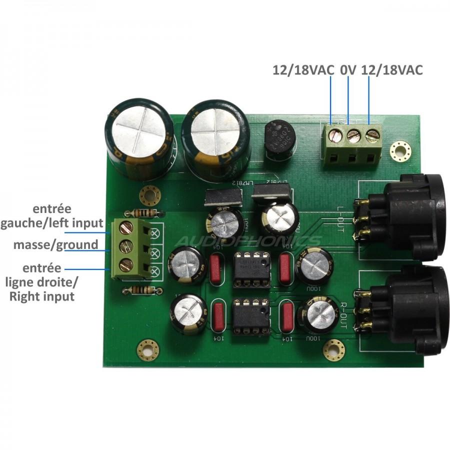 Module Kit differential balanced XLR symetrizer DRV134 stereo