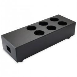 AUDIOPHONICS MPC6 V2 Power Distribution Case 6 ports Black Aluminium