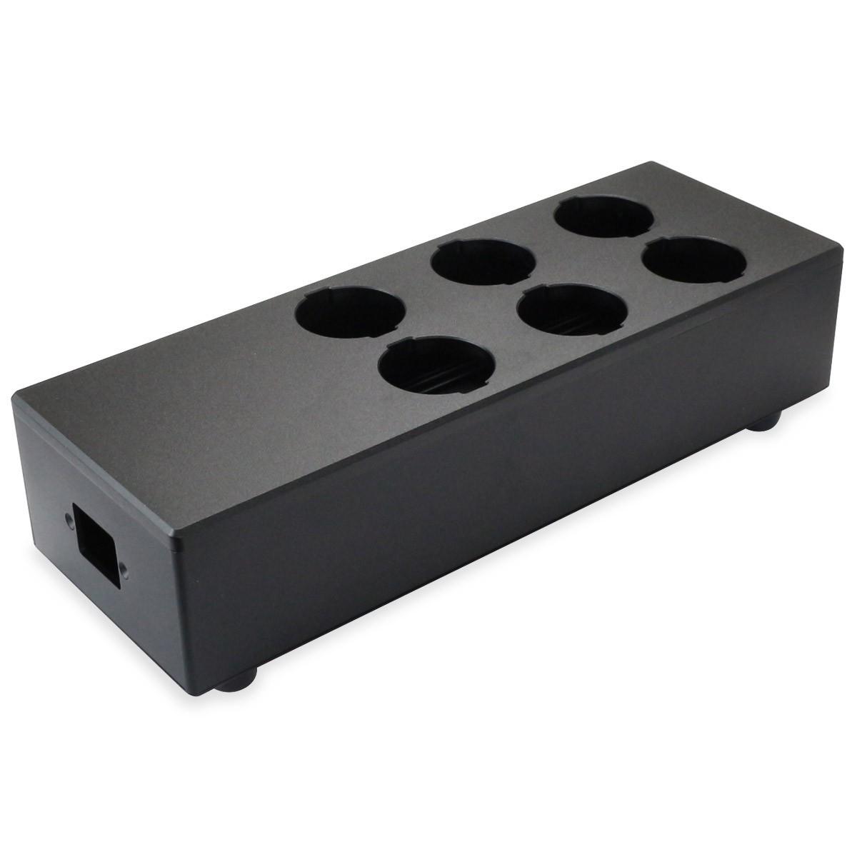 AUDIOPHONICS MPC6 V2 Boitier Distributeur Secteur Nu 6 Ports Aluminium Noir