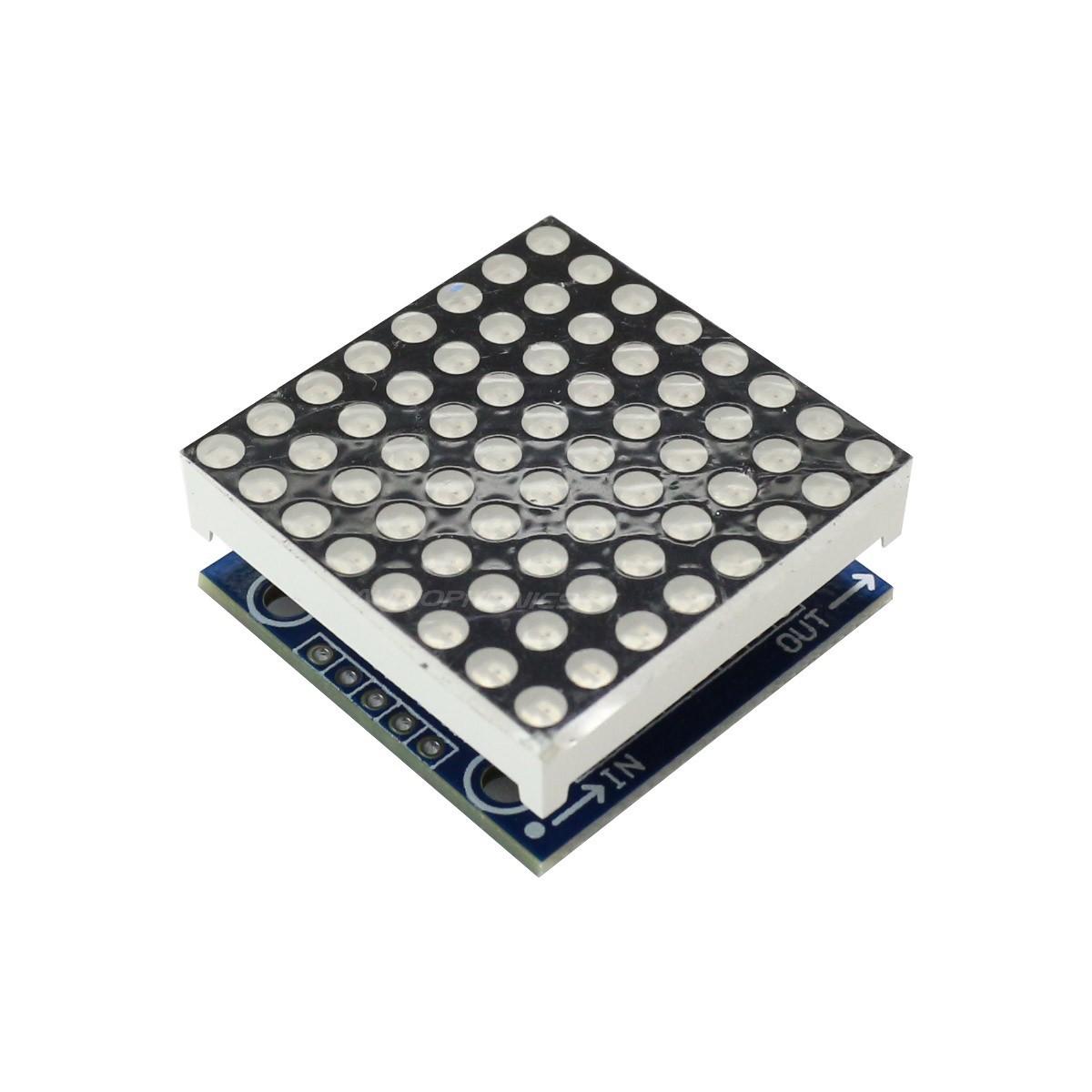 Module Afficheur LED à Grille Matriciel 8x8 64 LED Programmable Rouge