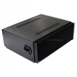 DIY Box / Case 100% Aluminium with heatsink 257x211x90mm