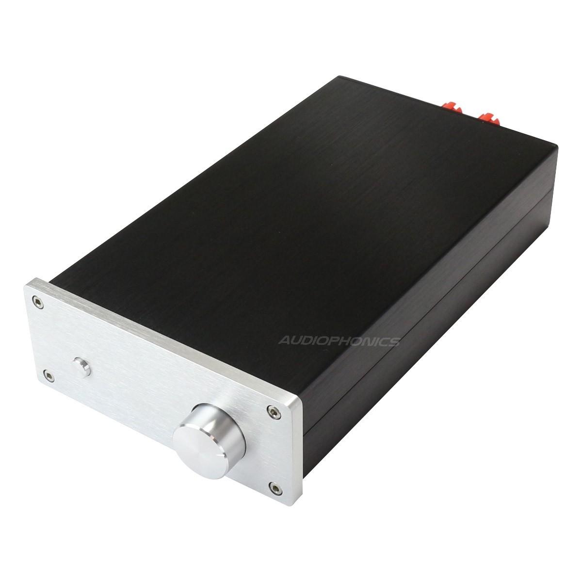 Boîtier DIY Amplificateur Aluminium 154x60x261mm Noir / Argent