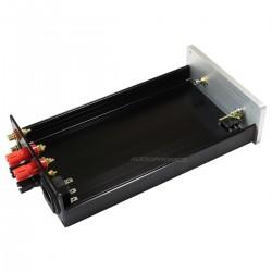 Boîtier DIY Amplificateur de Puissance Aluminium 154x60x261mm Noir / Argent