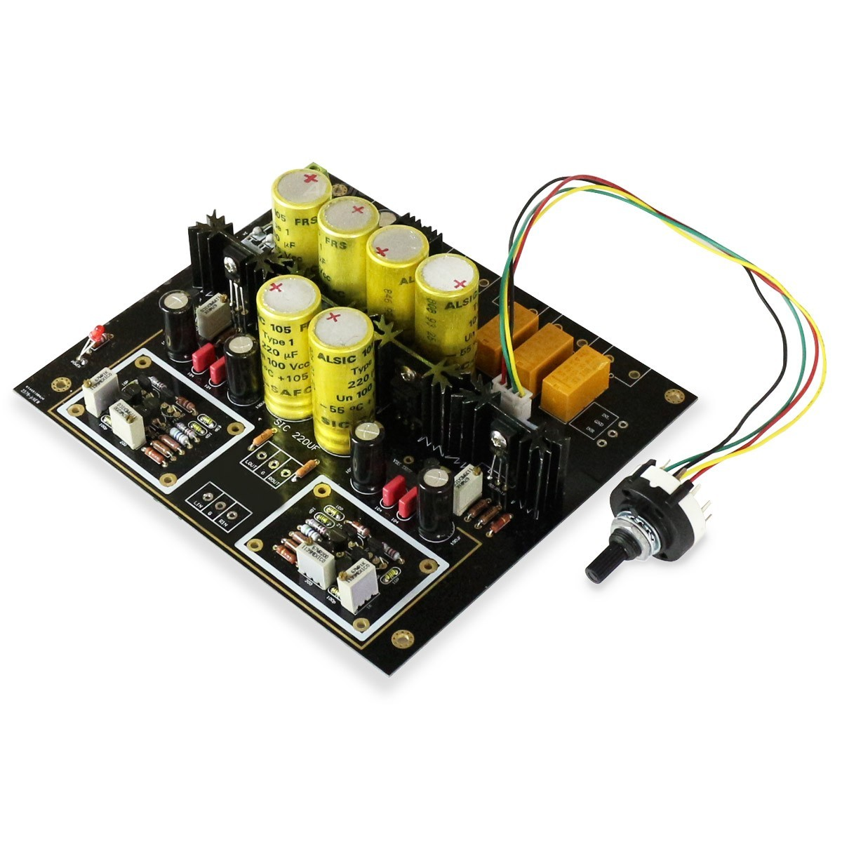 Classe A Stereo Preamplifier Module with 3 Input Selector