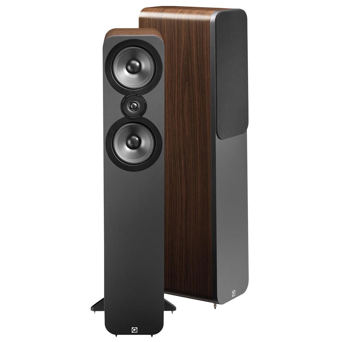 Q acoustics 3050 Enceintes colonne Noyer (La paire)
