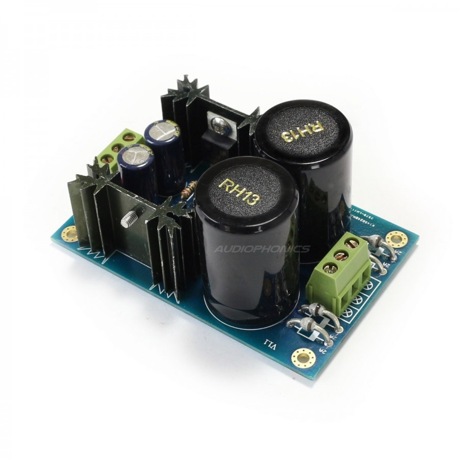 dual reguled linear power supply board lm317 337 tl431 5v to rh audiophonics fr