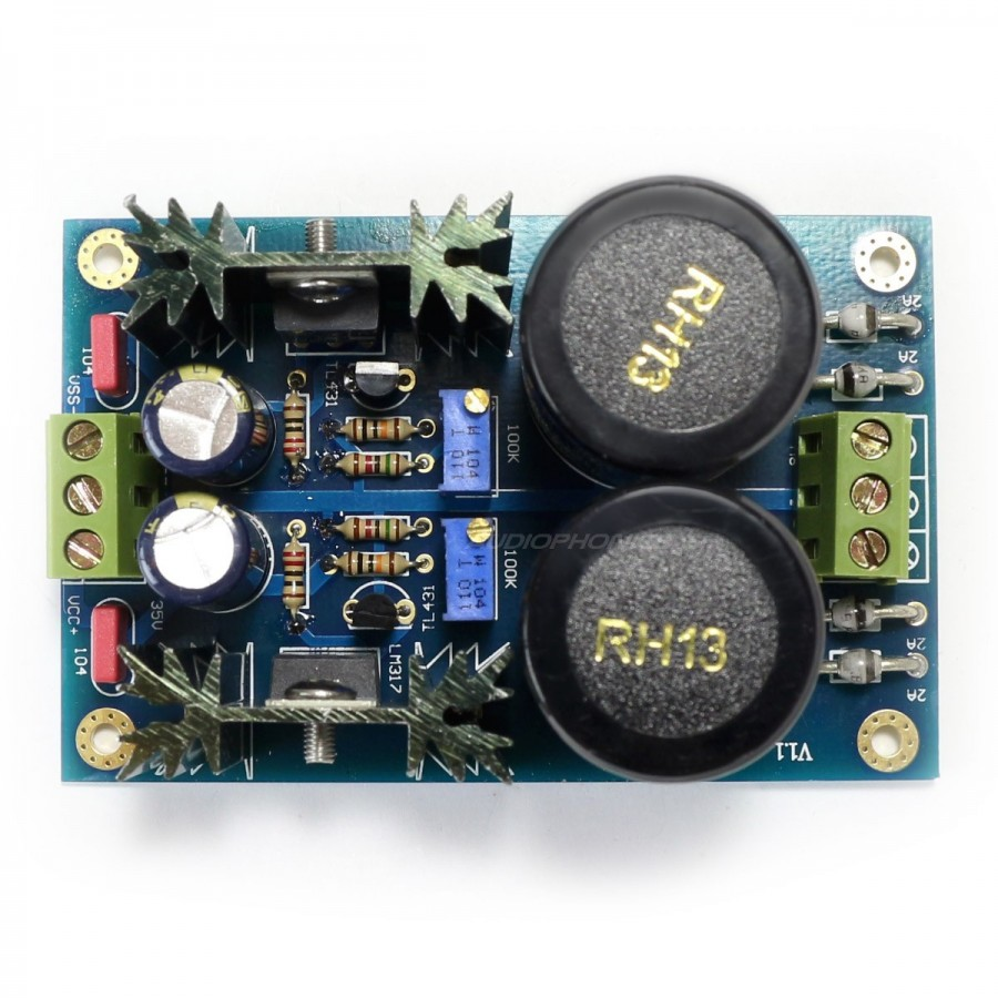 Dual Reguled Linear Power Supply Board LM317 / 337 + TL431 +/- 5V to