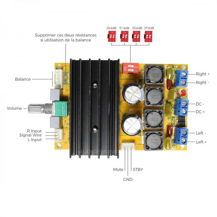 Fx Audio M Diy Mini7498 Class D Amplifier Module Tda7498 2x100w 8 A Circuit Ohm