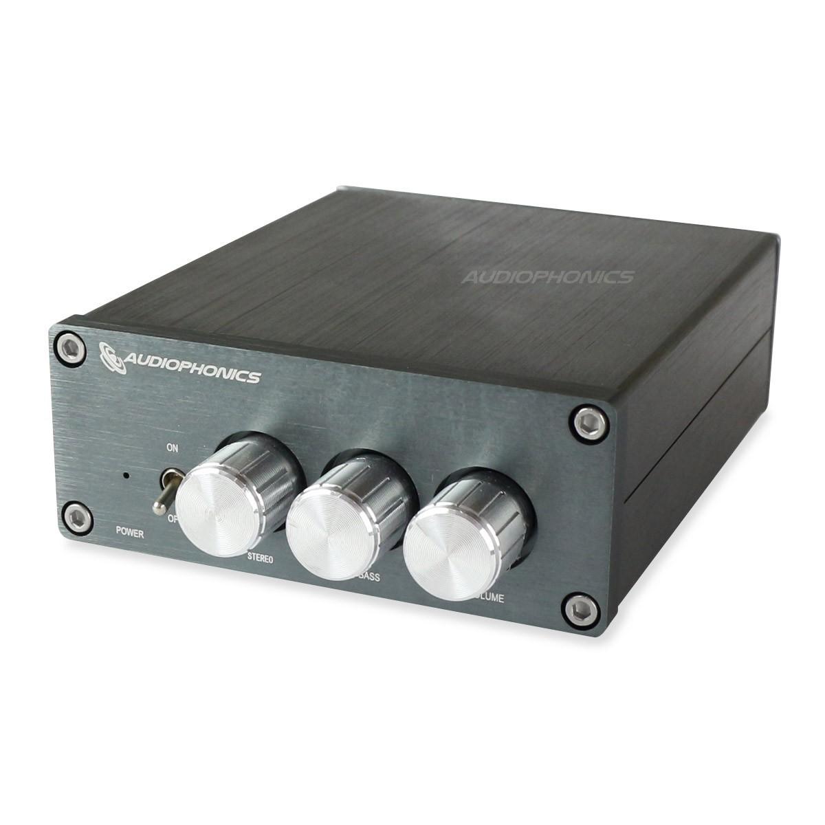 AUDIOPHONICS TPA-SW25 Amplifier 2.1 Class D TPA3116D2 2x 50W + 100W 4 Ohm Silver