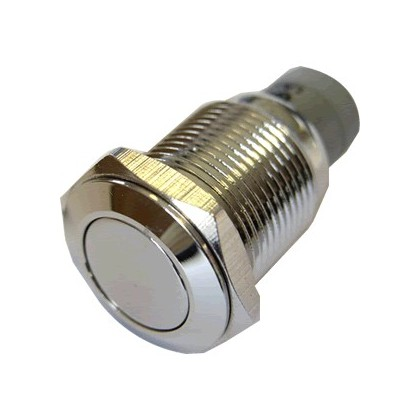 Push Button Stainless Steel 250V 3A Ø16mm Silver