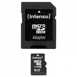 INTENSO Carte Mémoire Micro SDHC Class 10 16Gb + Adaptateur