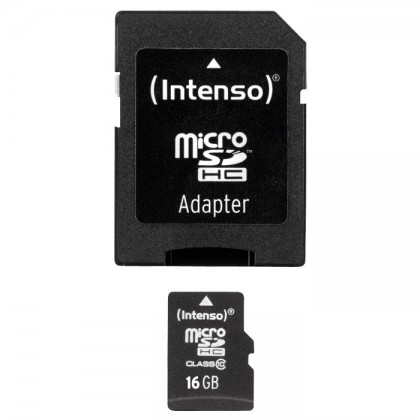 INTENSO Micro SDHC Memory Card 16Gb Class 10