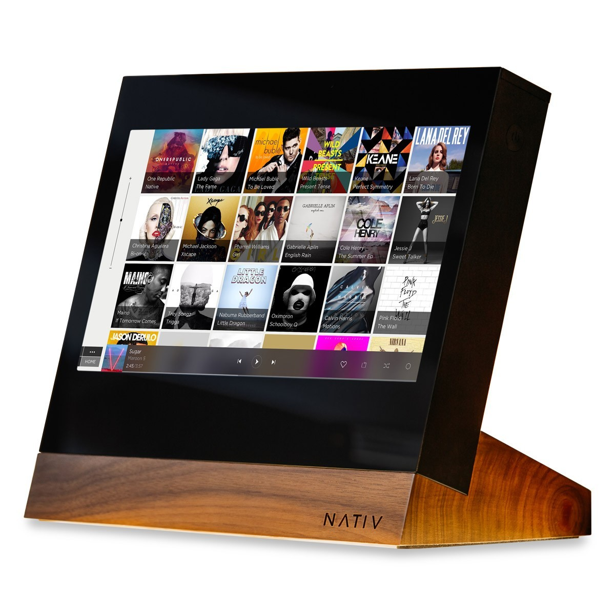 NATIV VITA - Hifi Streamer with Touchscreen DSD256 32bit 384Khz Walnut Stand