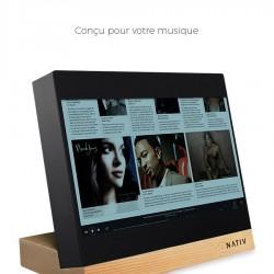 NATIV VITA - Lecteur Réseau Tactile Hifi DSD256 32bit 384Khz Socle Noyer