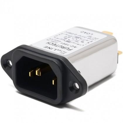 FURUTECH AC-1001 (G) Embase IEC C13 Plaquée Or Filtre EMI 230V 10A