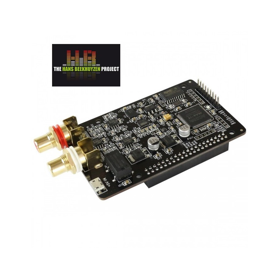 AUDIOPHONICS I-Sabre DAC ES9028Q2M Raspberry Pi 3, 2, A+, B+