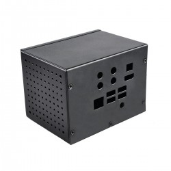 Boîtier Métal avec Bouton pour Raspberry Pi et DAC ST6000 / ST6000K / ST800