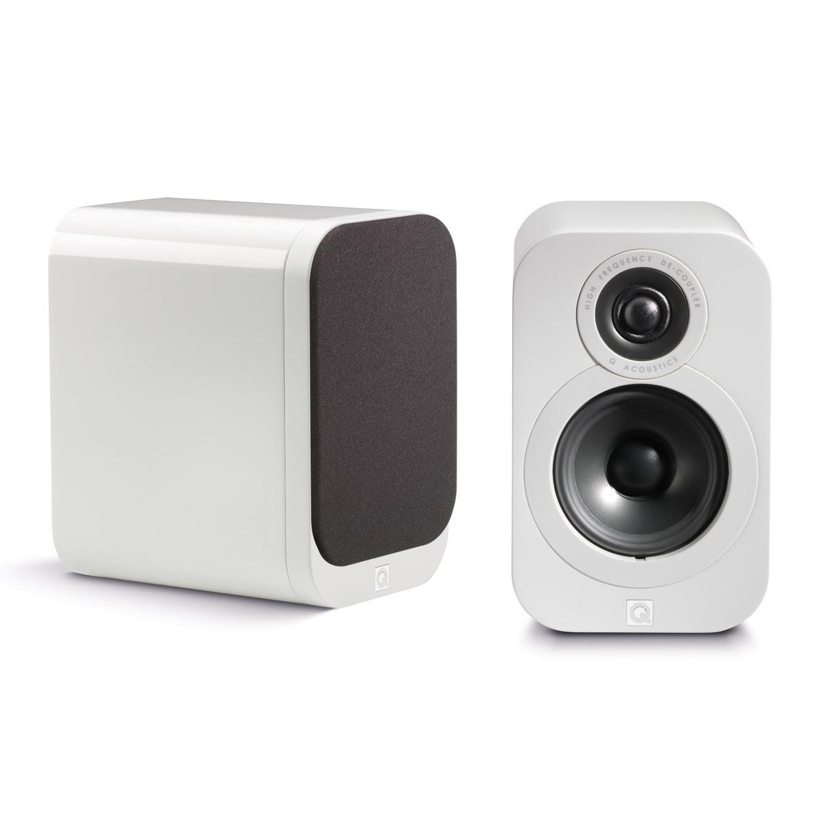 Q Acoustics 3010 Bookshelf Speakers Gloss White (pair)