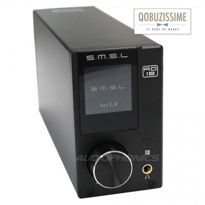SMSL AD18 V2.2 Digital Amplifier NFC TAS5342A 2x 65W + Subwoofer out / 8 Ohm